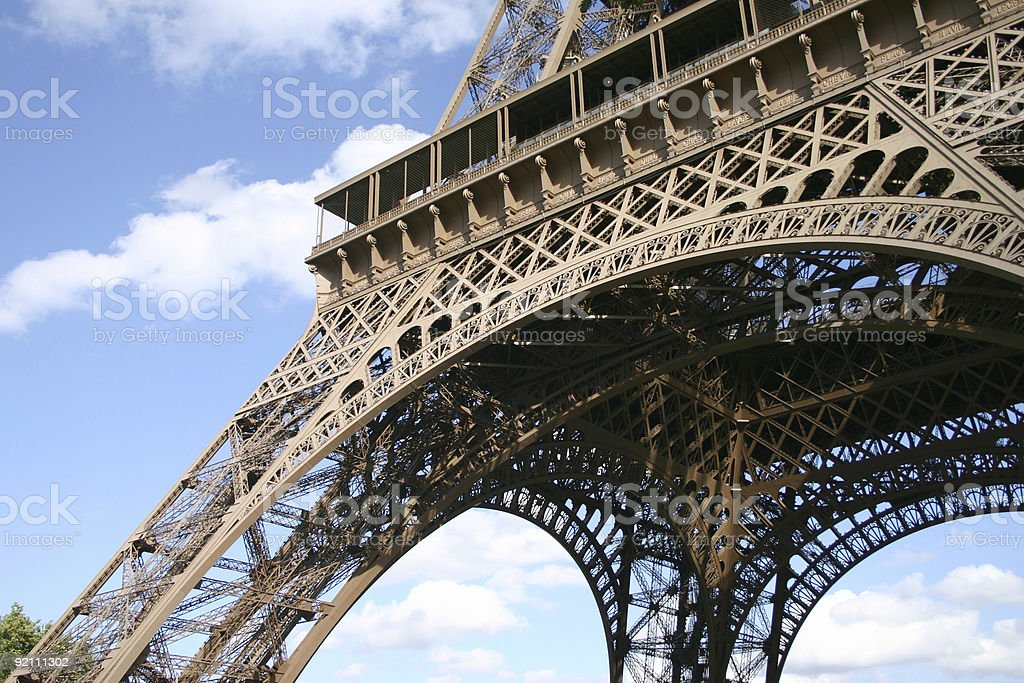Eiffel tower 2 royalty-free stock photo
