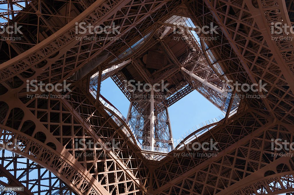 Eiffel Tower: A different perspective stock photo
