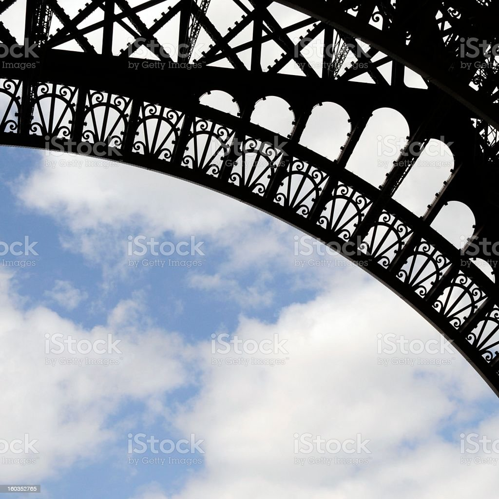Eiffel Tower Abstract. royalty-free stock photo