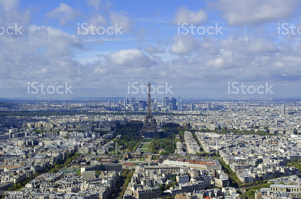 Eiffel Tower and Paris Cityscape royalty-free stock photo