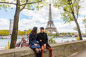 Eiffel Tower and Seine View for Romantic Asian Couple Paris