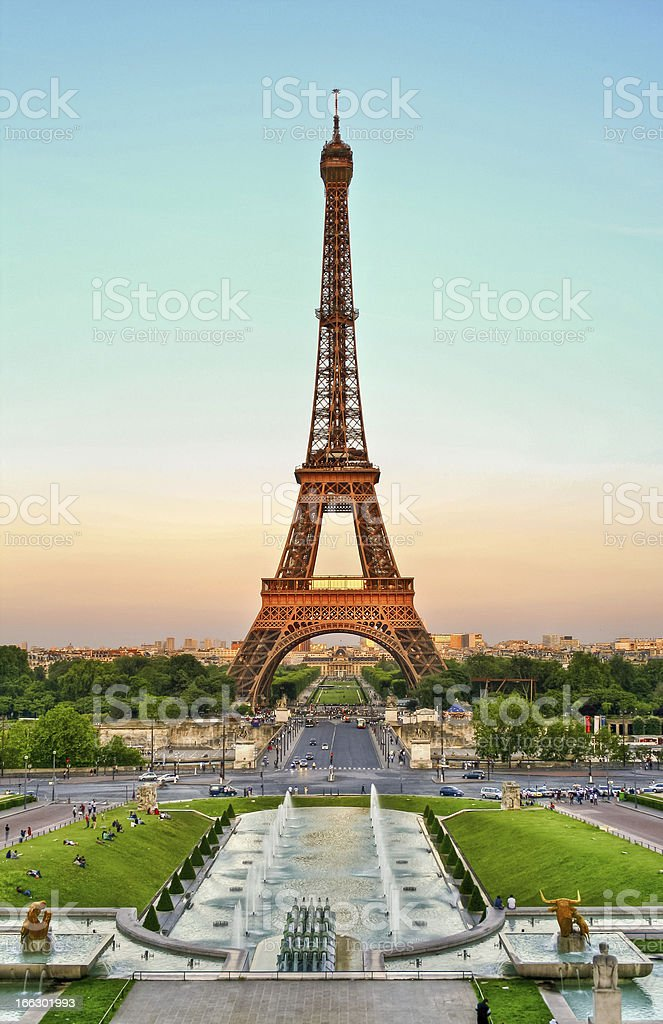 Eiffel Tower at afternoon royalty-free stock photo