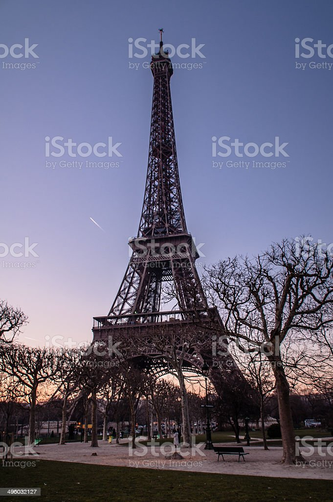 Eiffel Tower at Dusk royalty-free stock photo