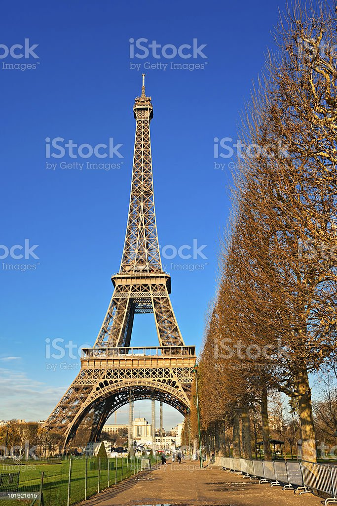Eiffel tower at sunrise, Paris. royalty-free stock photo