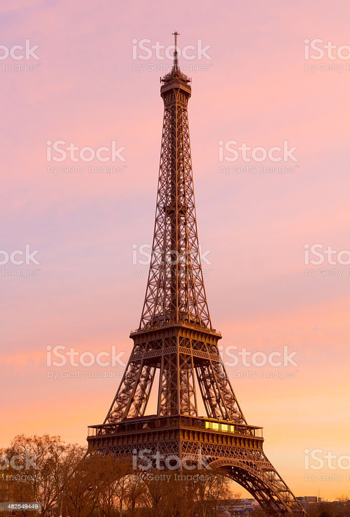 Eiffel Tower at Sunset royalty-free stock photo