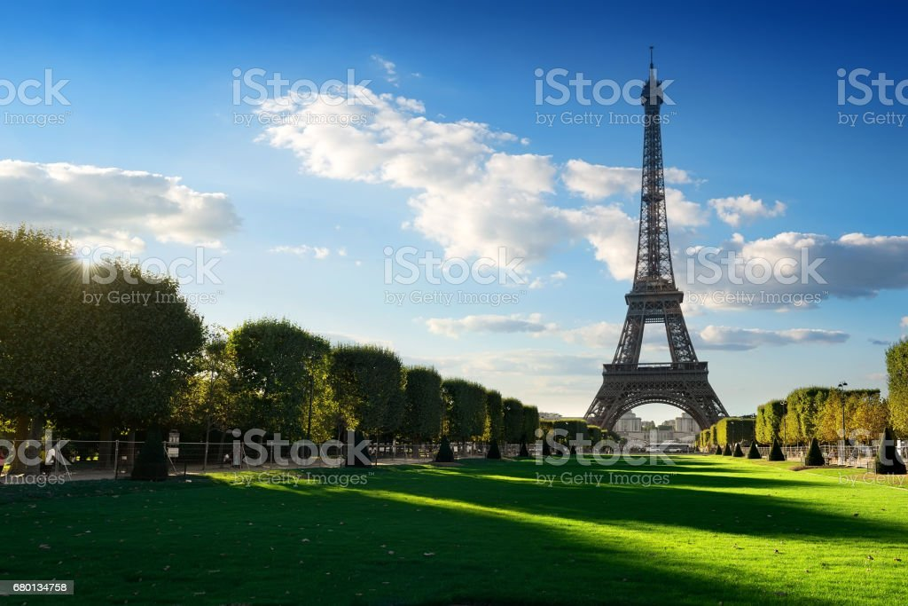 Eiffel Tower by day stock photo