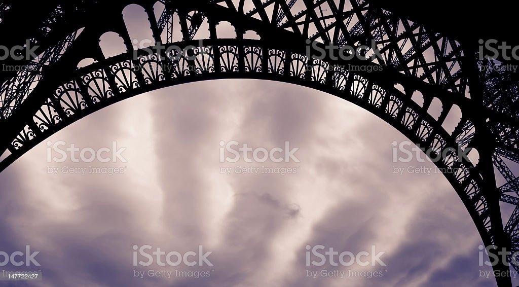 Eiffel tower detail stock photo