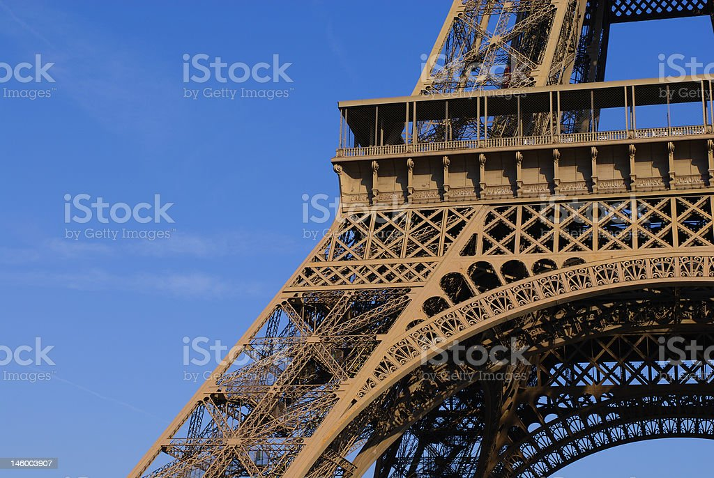 Eiffel Tower, first floor royalty-free stock photo