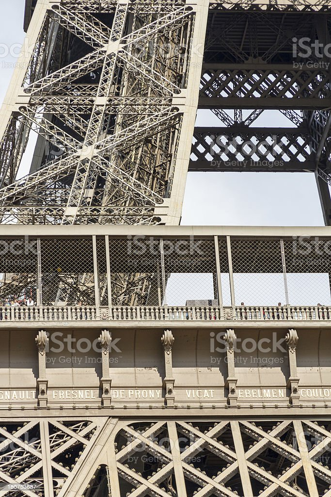 Eiffel Tower - first floor royalty-free stock photo