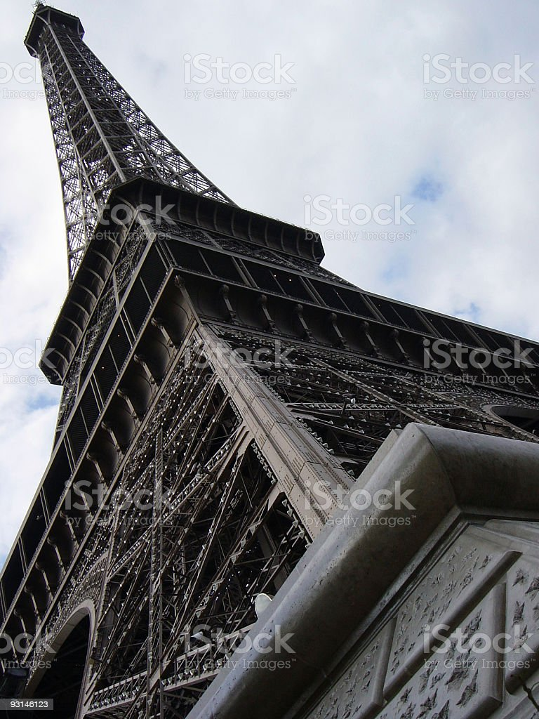 Eiffel Tower from below royalty-free stock photo