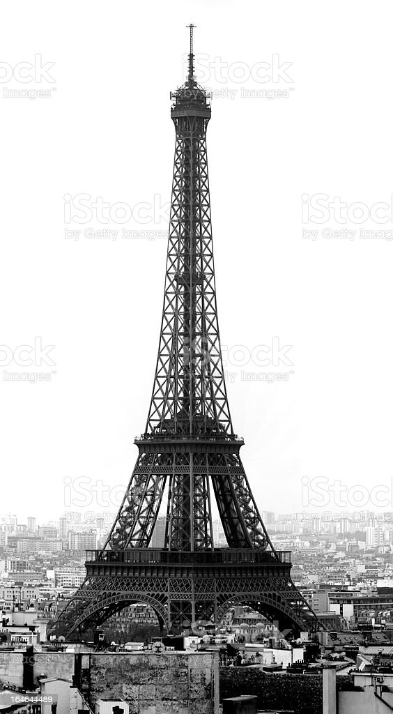 eiffel tower from the Paris roofs royalty-free stock photo