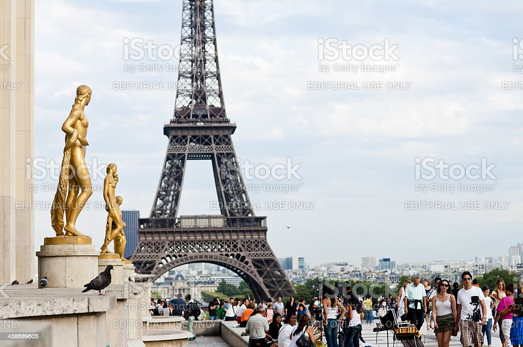 Eiffel Tower from the Trocadero, Paris-France stock photo