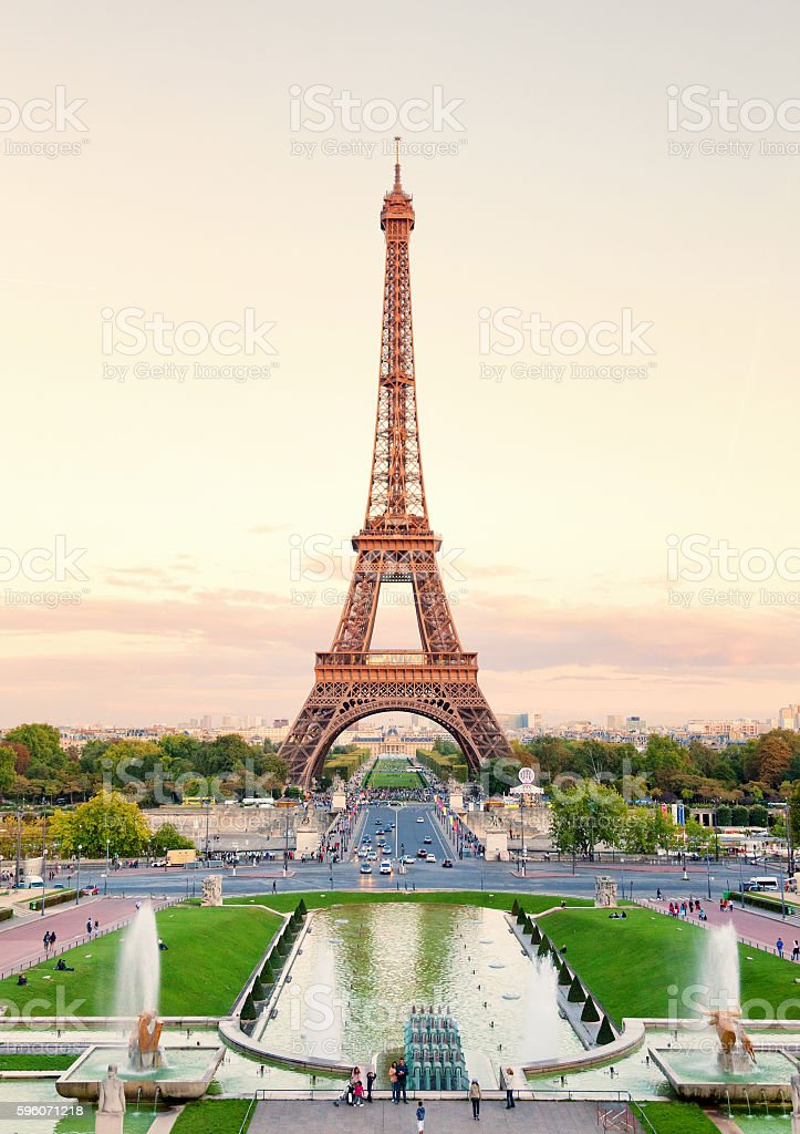 Eiffel Tower from Trocadero stock photo