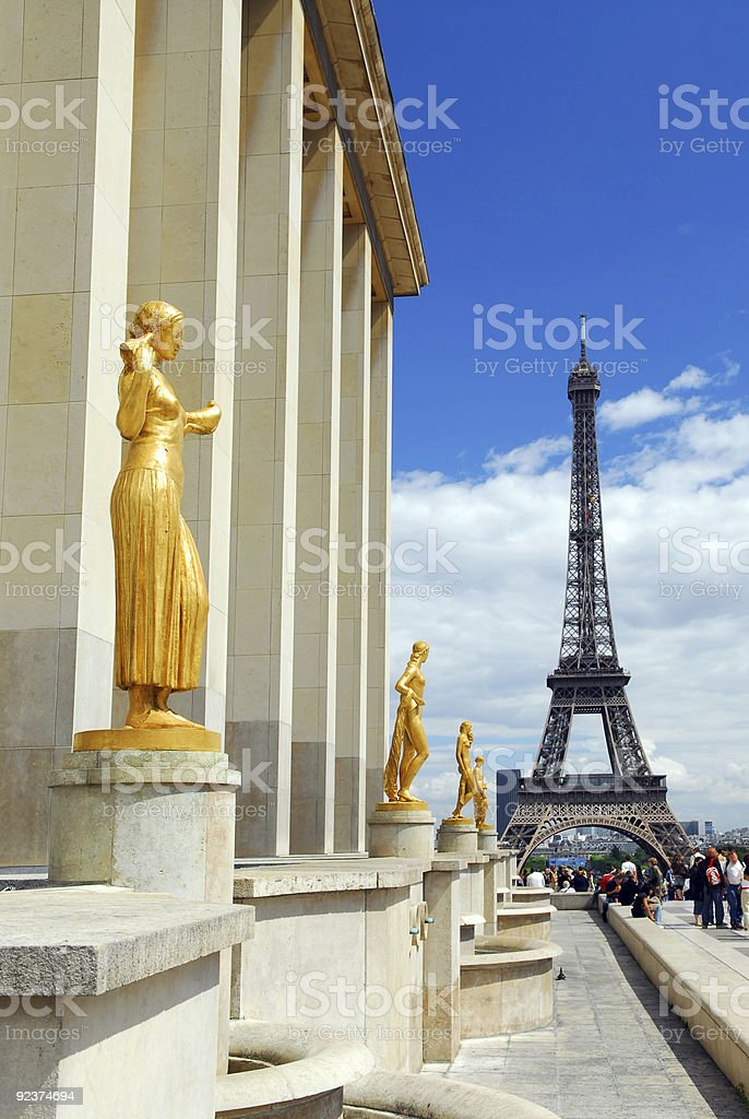 Eiffel tower from Trocadero royalty-free stock photo