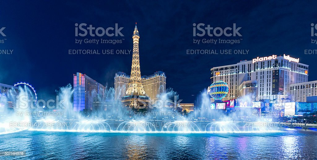 Eiffel Tower in Las Vegas stock photo