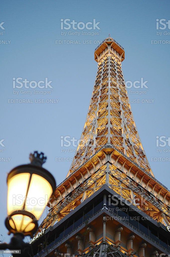 Eiffel tower in Las Vegas strip stock photo