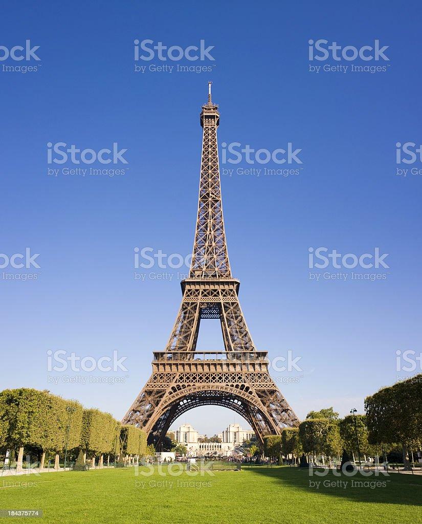 Eiffel Tower in Paris France stock photo
