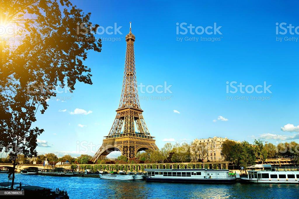 Eiffel Tower in Paris, France stock photo