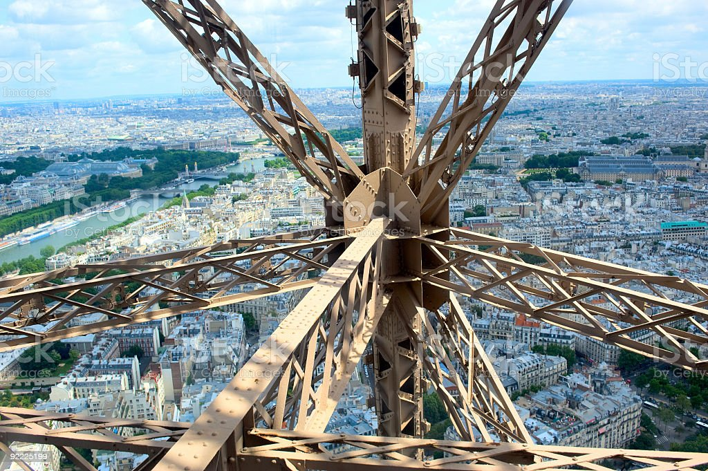 Eiffel tower in Paris royalty-free stock photo