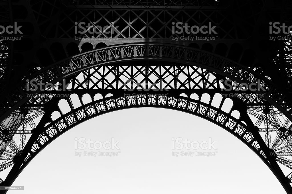 Eiffel tower latticework stock photo