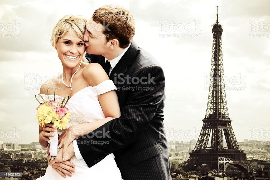 Eiffel Tower Love royalty-free stock photo