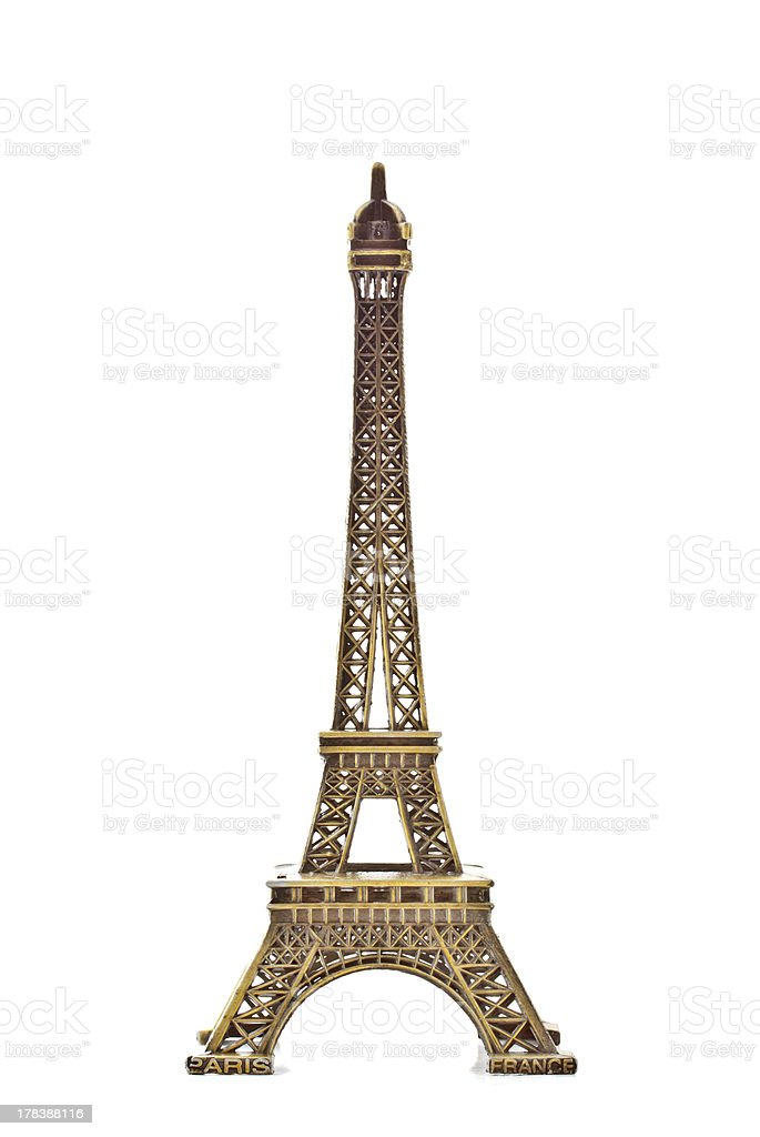 Eiffel tower model stock photo