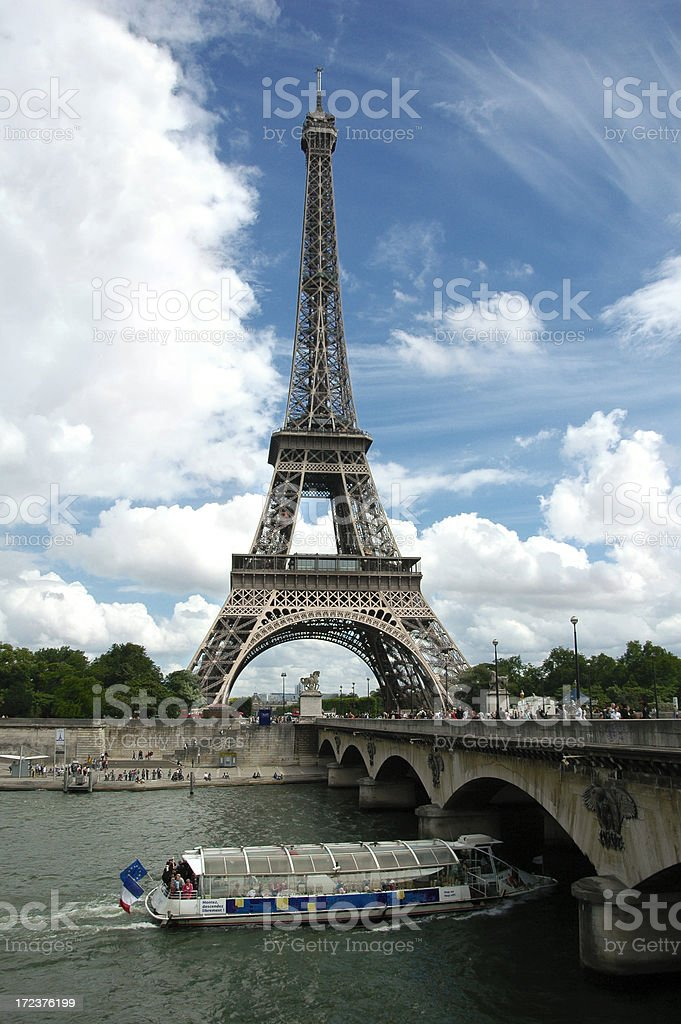 Eiffel Tower, Nice Day royalty-free stock photo