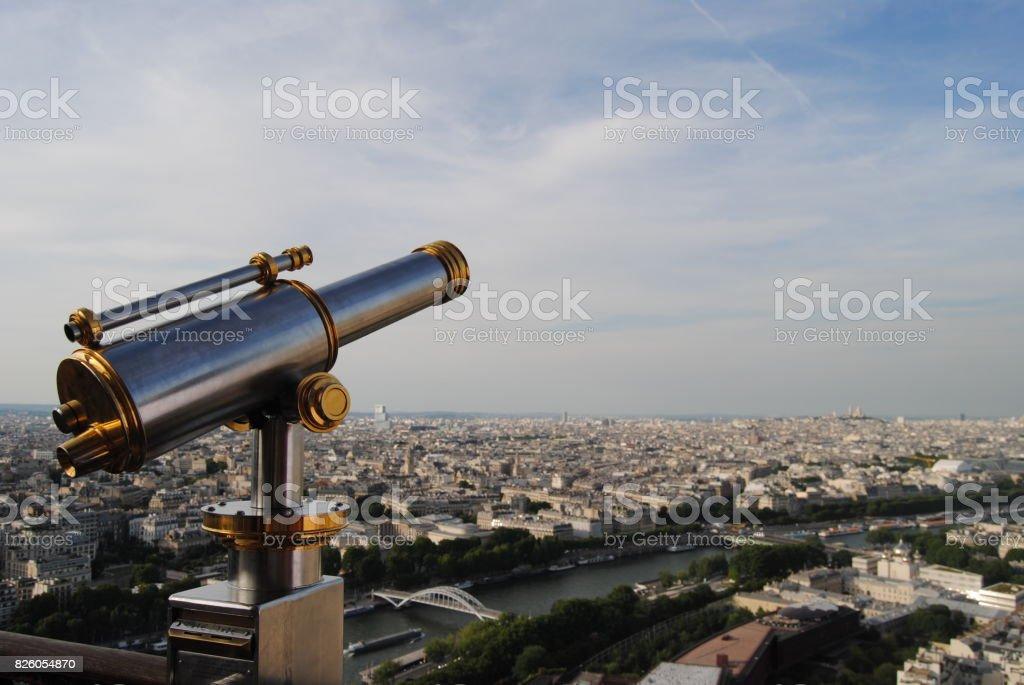 Eiffel Tower Observation Deck stock photo