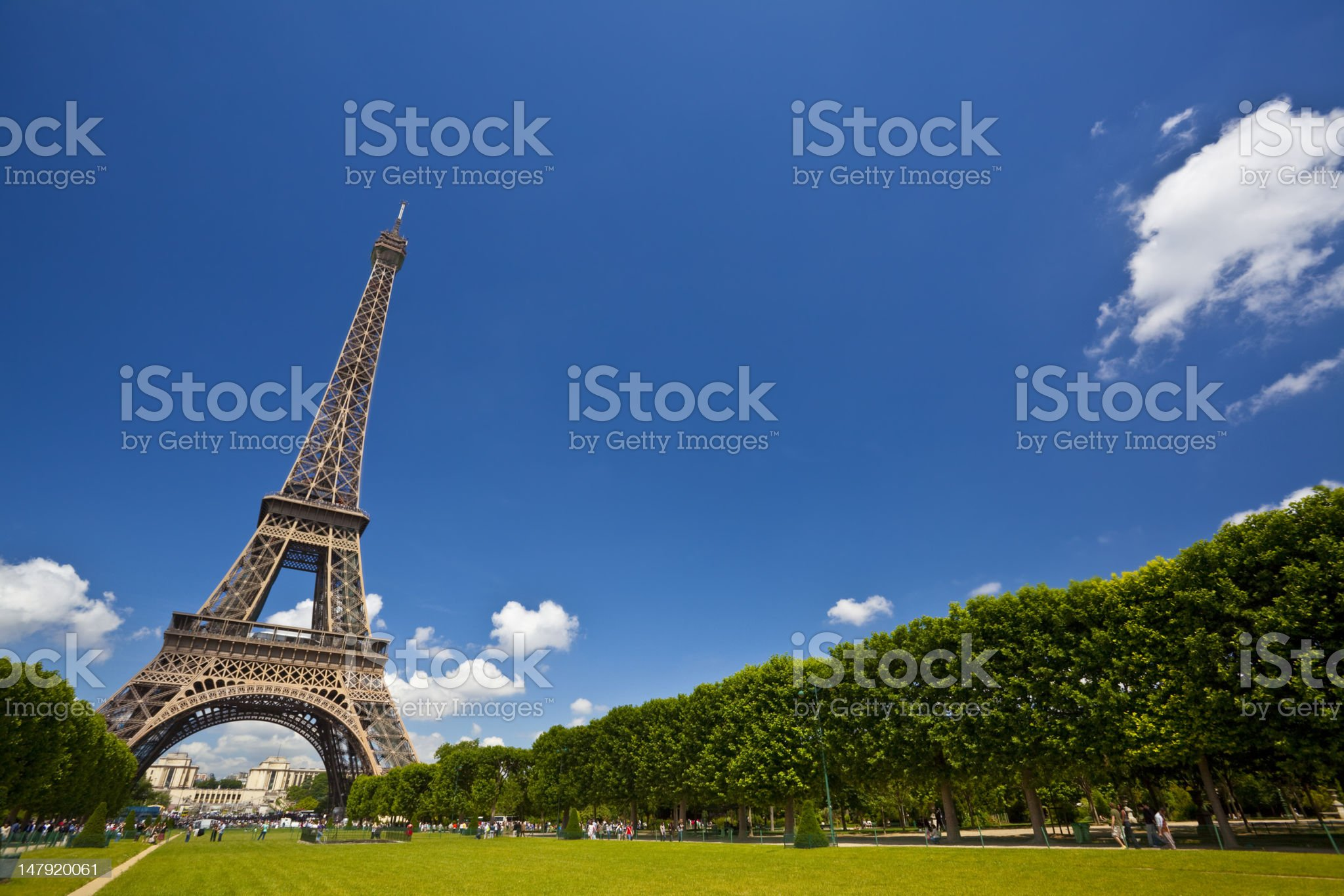 Eiffel Tower on a sunny spring day, Paris, France royalty-free stock photo