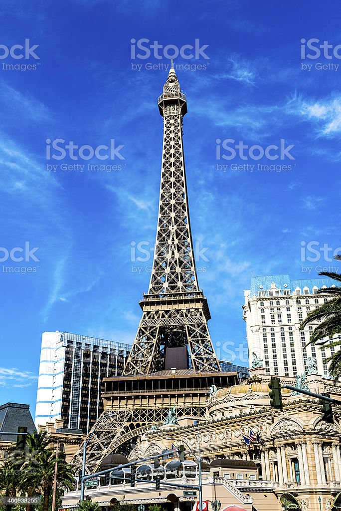 Eiffel tower on Strip, Las Vegas royalty-free stock photo