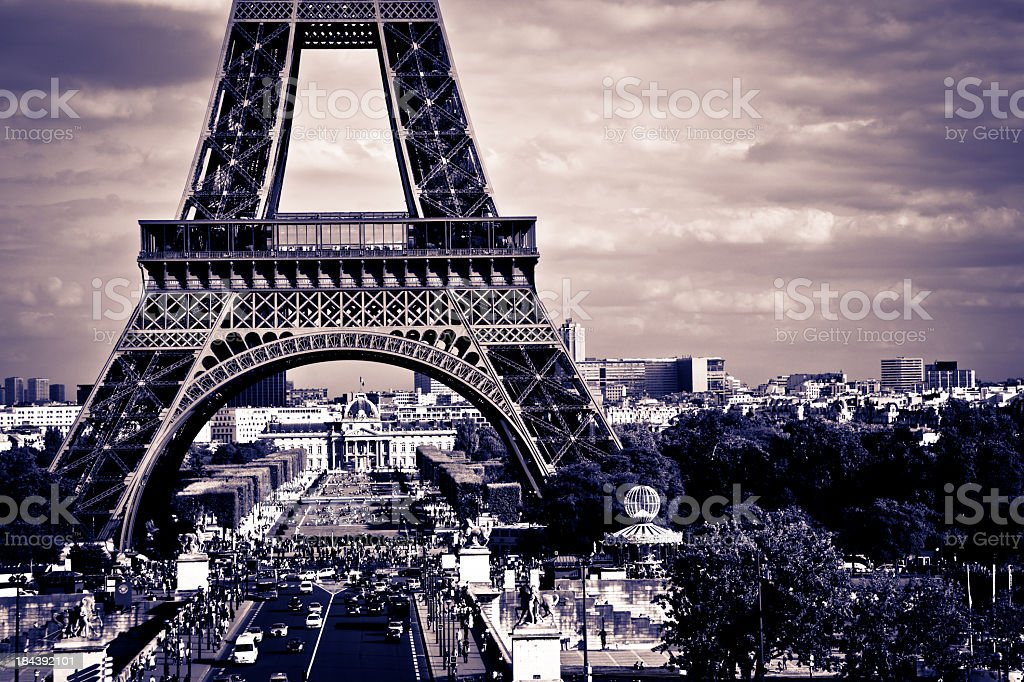Eiffel Tower on Summer Day, Paris, France royalty-free stock photo