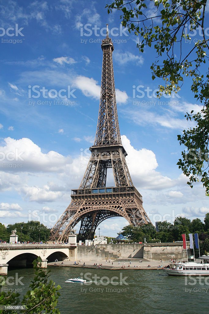 Eiffel Tower over the river Sene. Paris, France royalty-free stock photo