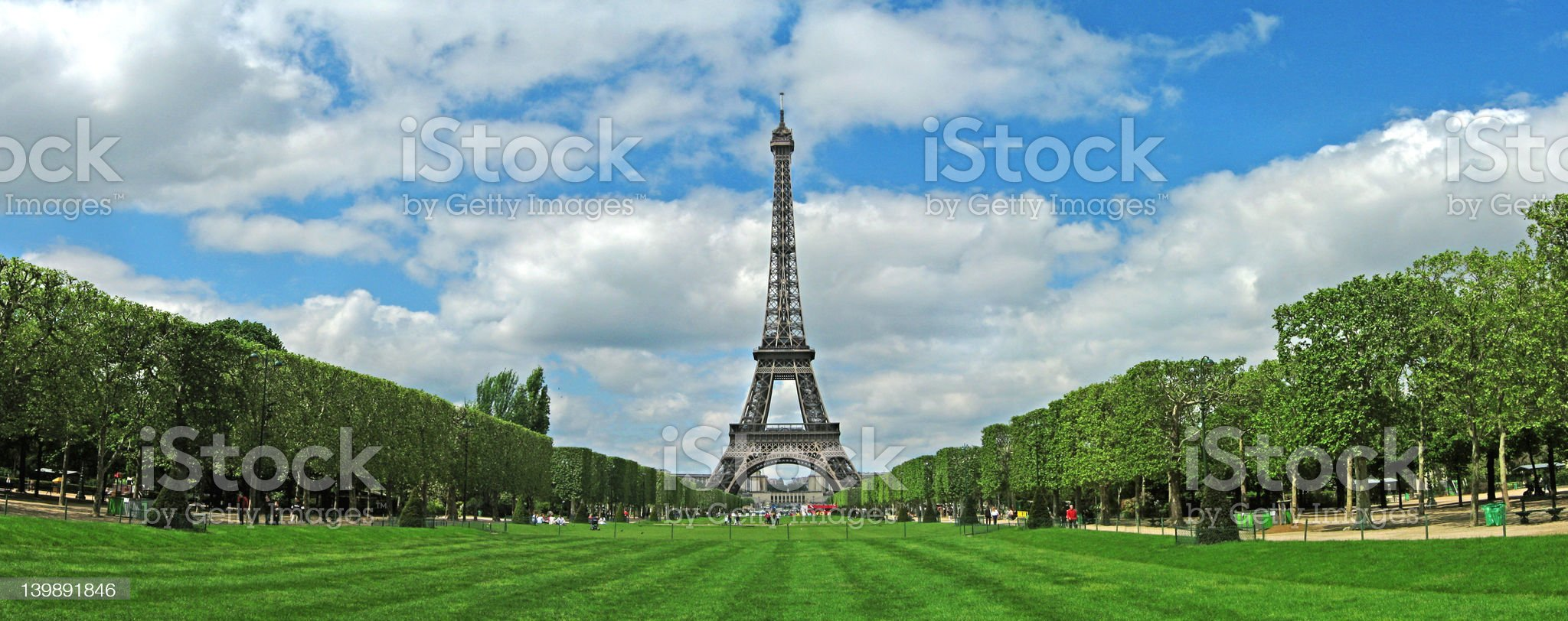 Eiffel Tower Panorama royalty-free stock photo