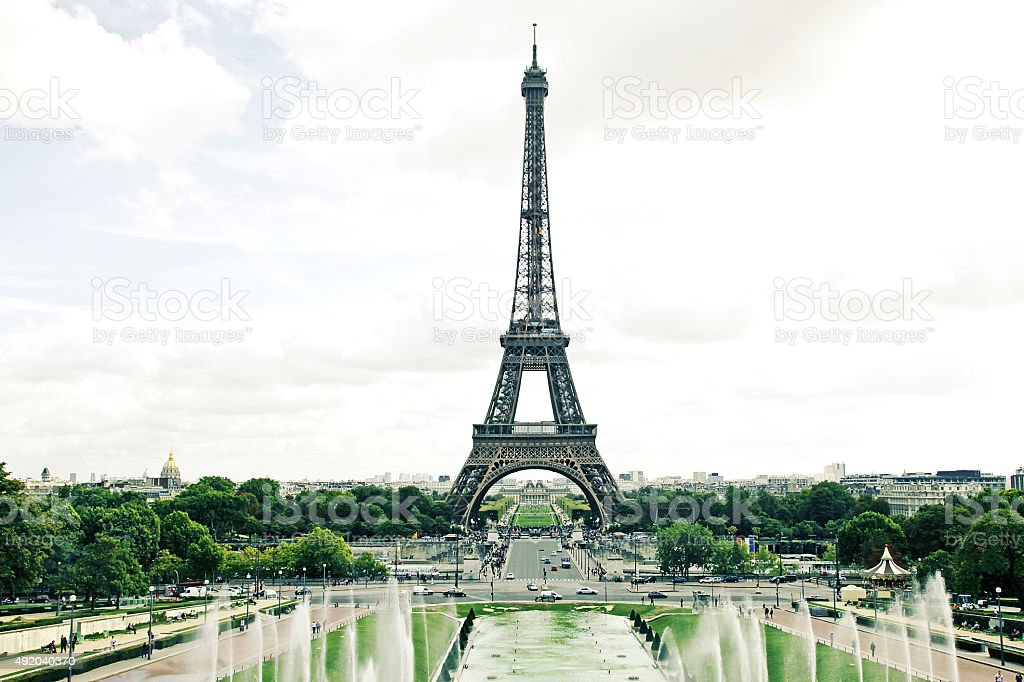 Eiffel Tower Paris France NEW stock photo