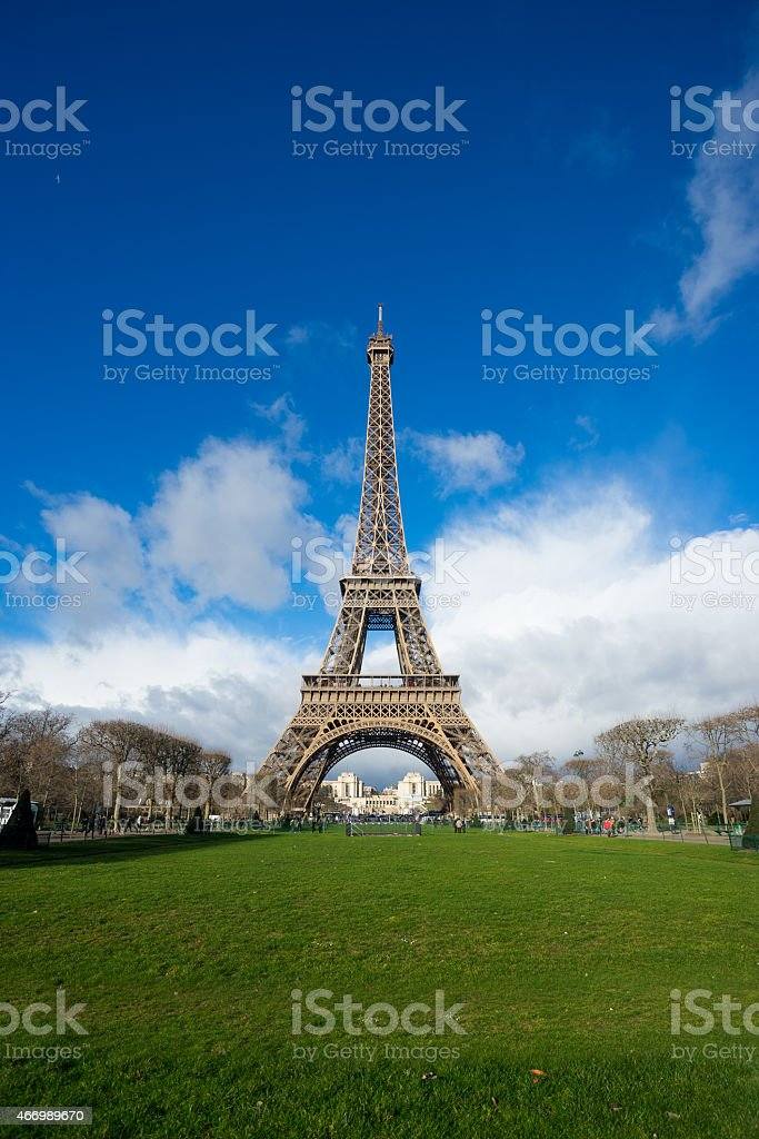 Eiffel tower, Paris, France. stock photo