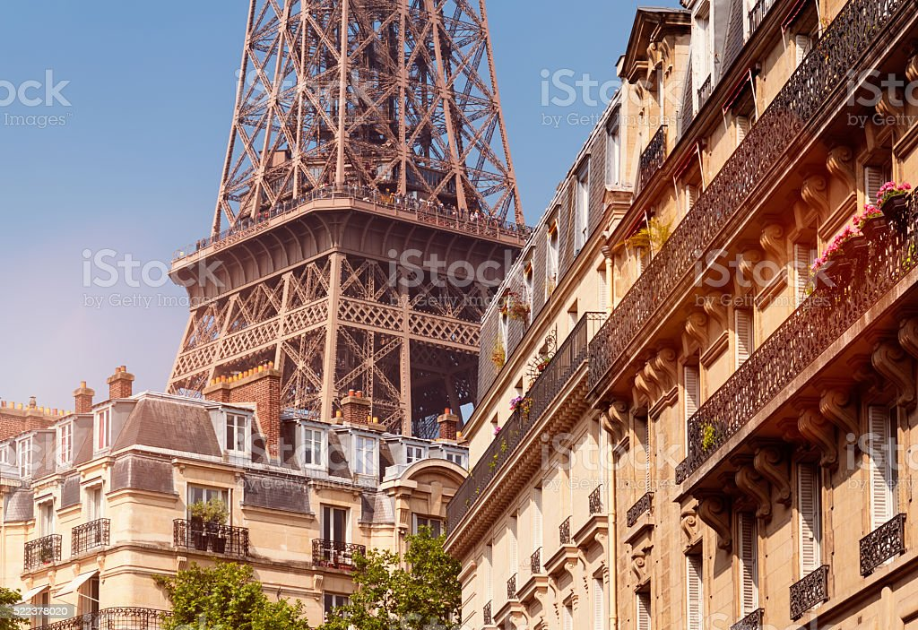 Eiffel Tower, Paris - France. stock photo