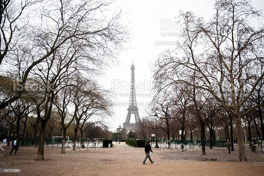 Eiffel Tower, Paris in France royalty-free stock photo