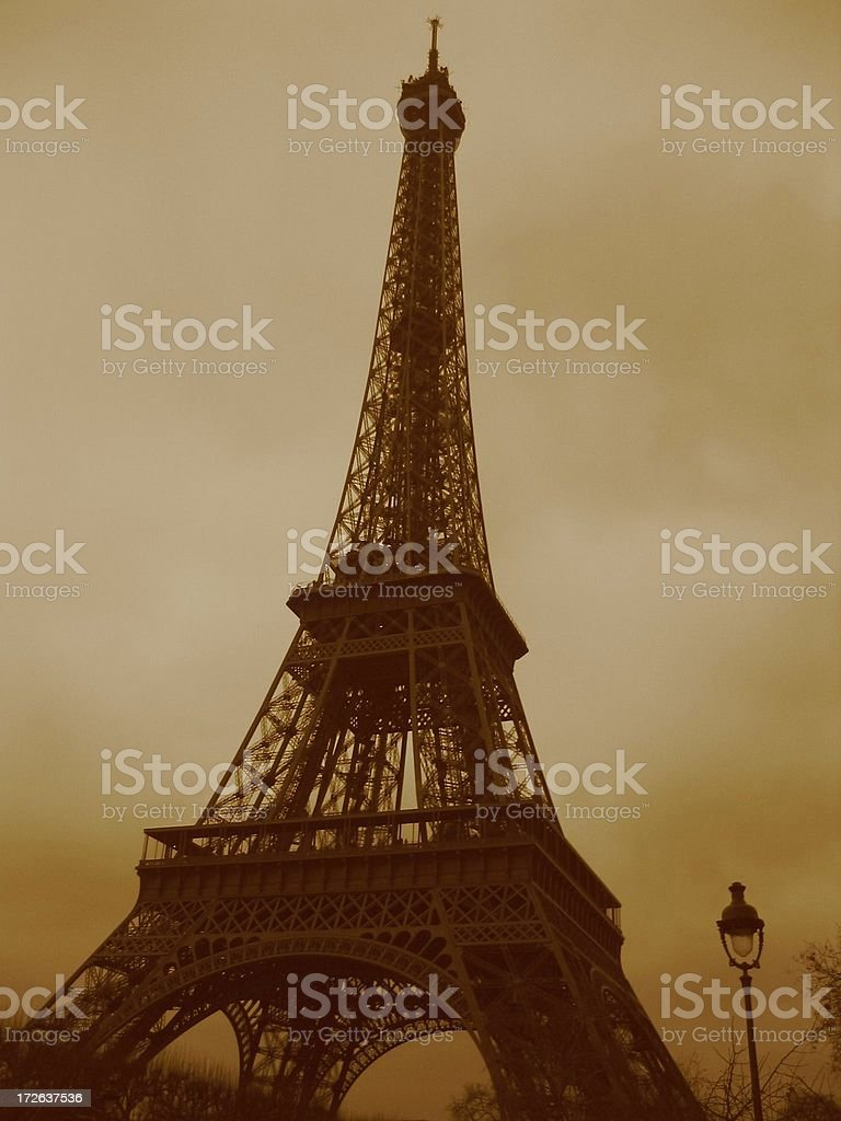 Eiffel Tower Paris, old style royalty-free stock photo