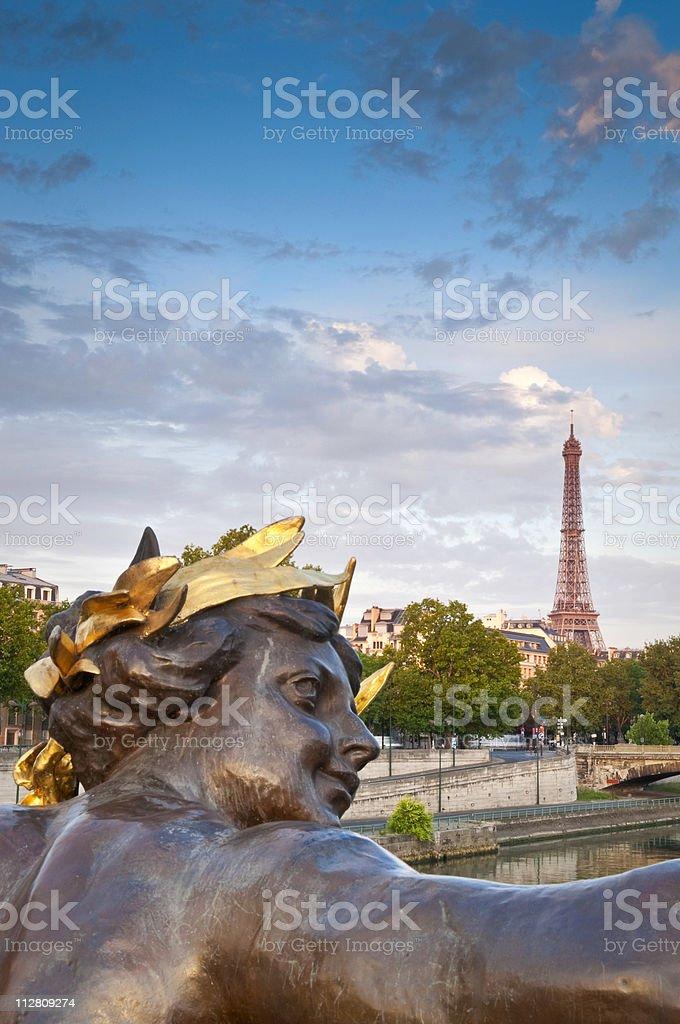 Eiffel Tower & Pont Alexandre III, Paris royalty-free stock photo