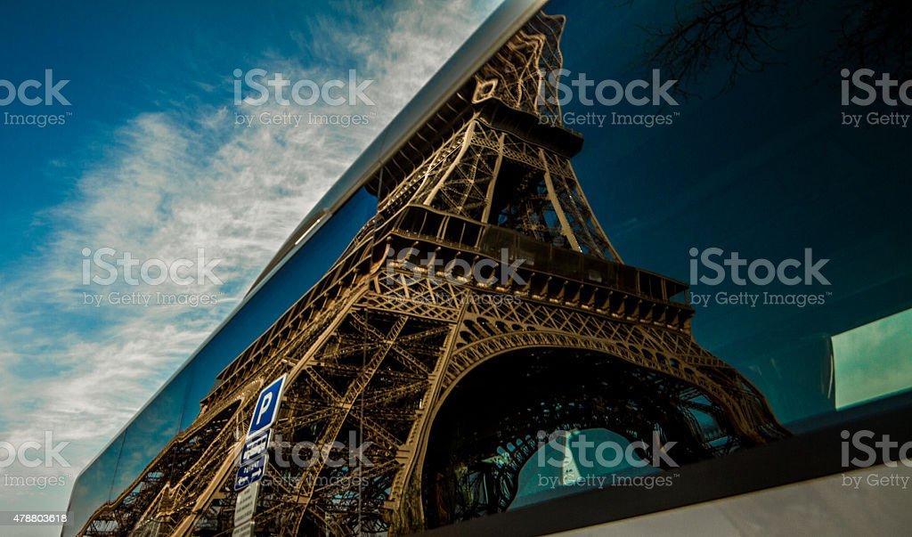 Wieża Eiffla odzwierciedlenie zbiór zdjęć royalty-free