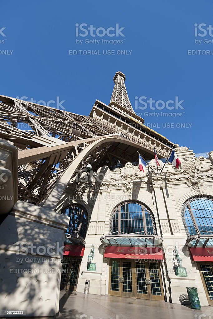 Eiffel Tower Restaurant in Las Vegas royalty-free stock photo
