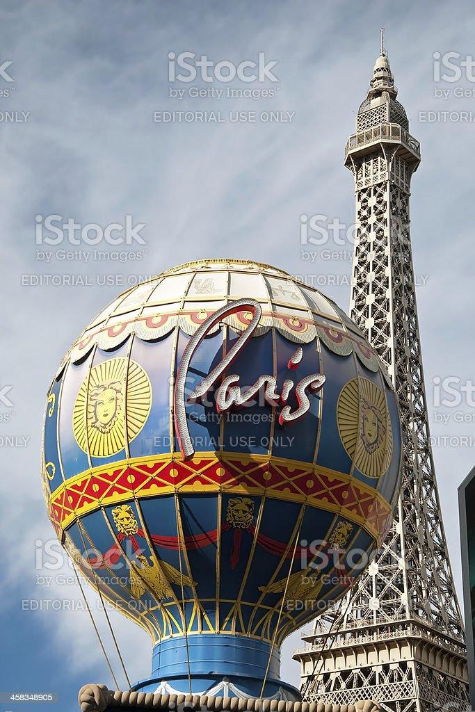 Eiffel Tower restaurant on the Las Vegas Strip in Nevada stock photo