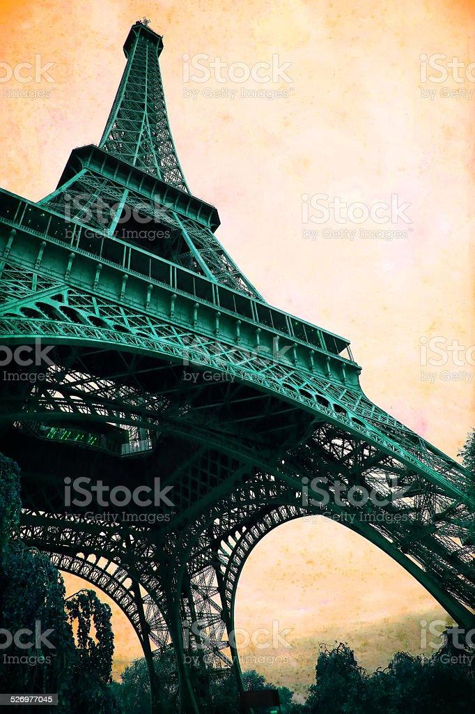 Eiffel Tower - retro styled stock photo