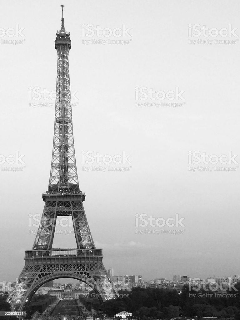 Eiffel Tower Romance stock photo