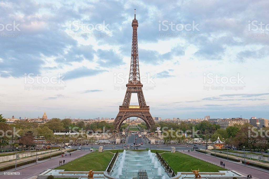 Eiffel Tower, View From Trocadero,  Paris, France stock photo