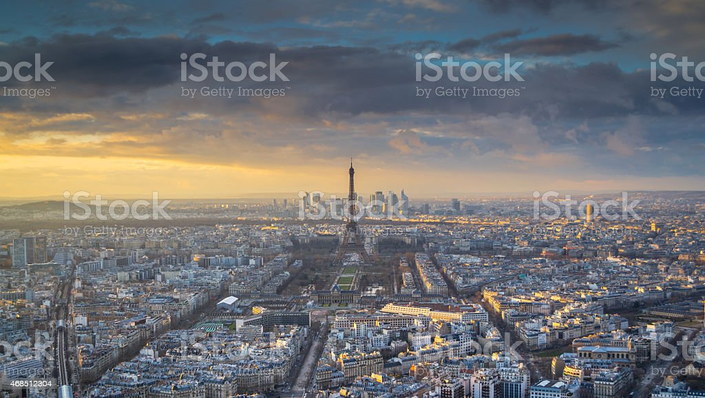 Eiffel Tower-View from Montparnasse Tower stock photo