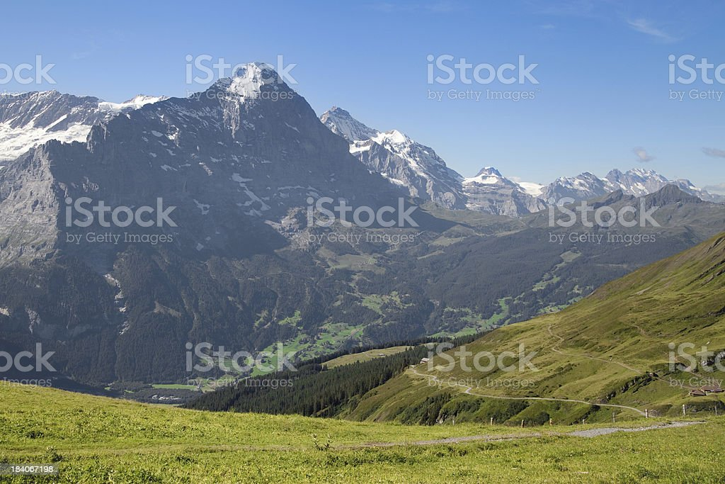 Eiger and Jungfrau stock photo