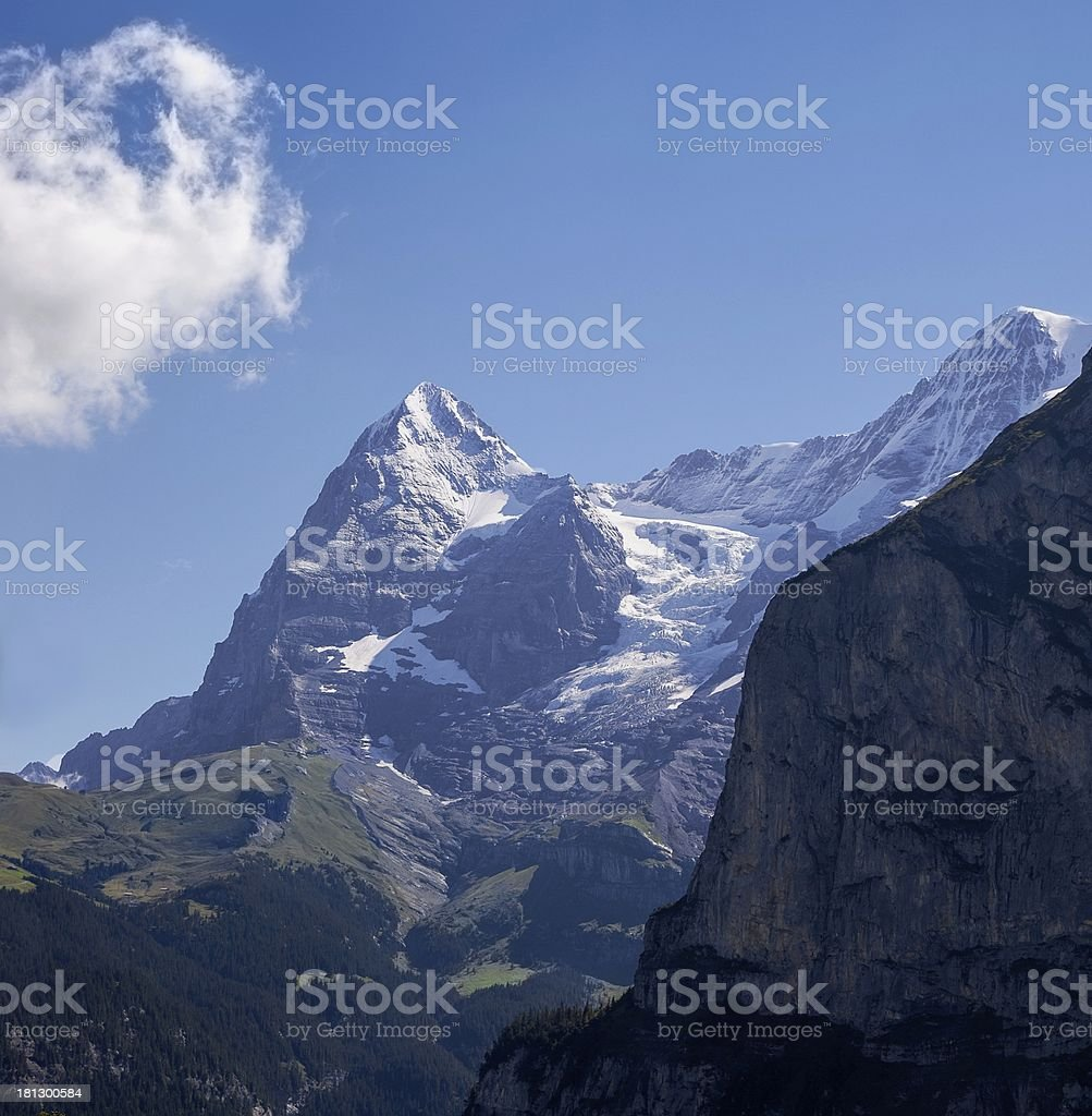 Eiger and Mo?nch royalty-free stock photo