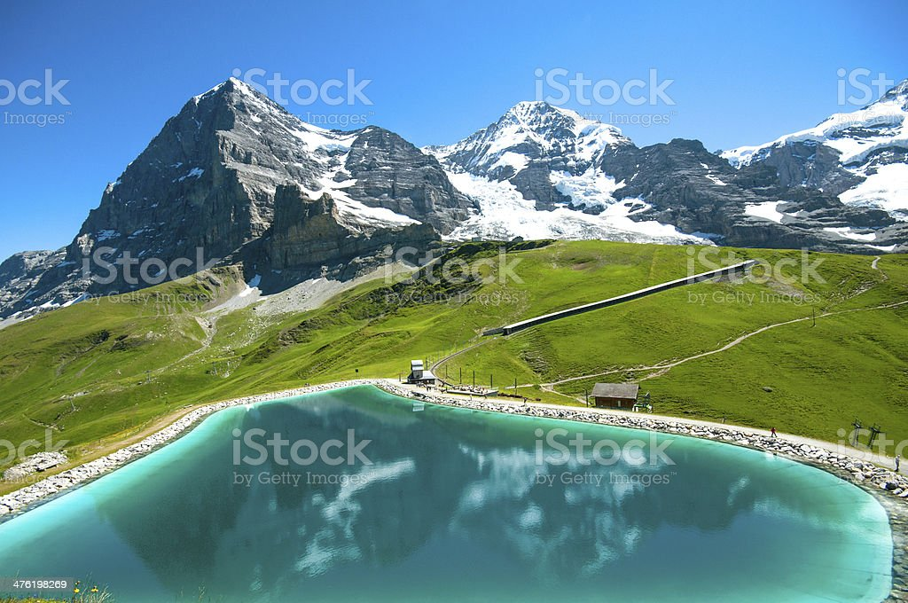 Eiger and Monch royalty-free stock photo