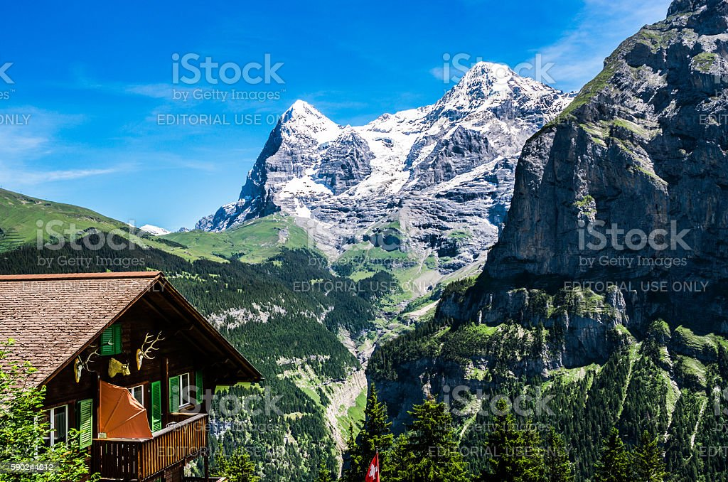 Eiger and Monch, Switzerland stock photo